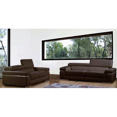 Bellini Modern Living Emilia Leather Loveseat