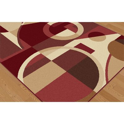 Tayse Rugs Elegance Red Multi Circles Rug