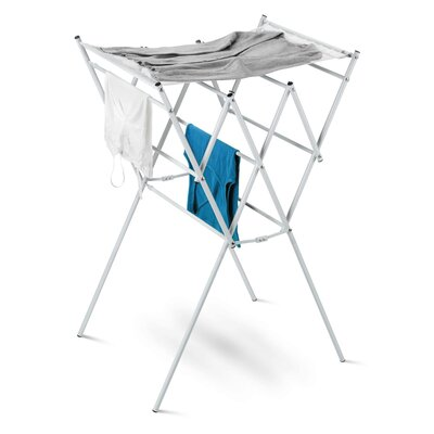 Expandable Drying Rack with Mesh Shelf in Silver