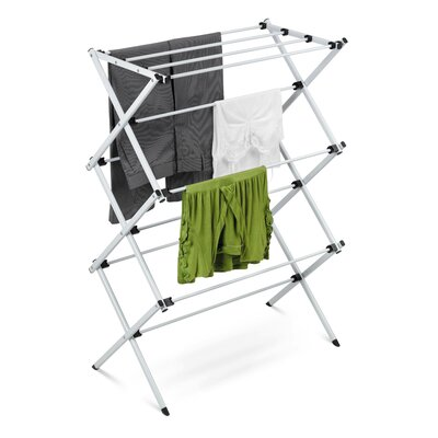 Deluxe Metal Drying Rack in Silver