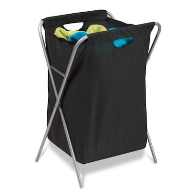 Honey Can Do Fold Up Nylon Hamper in Black