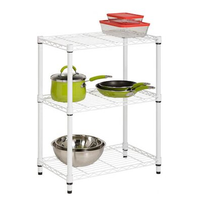 Honey Can Do Three Tier Shelving Unit in White