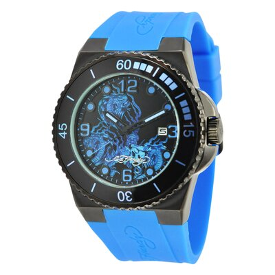 Ed Hardy Men's Immersion Snake Watch in Blue