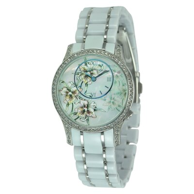 Ed Hardy Women's Jasmine Watch in White
