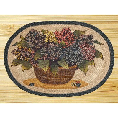 Earth Rugs Hydrangea Novelty Rug