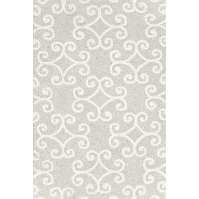 Dash and Albert Rugs Hooked Scroll Platinum Rug