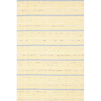 Dash and Albert Rugs Woven Cotton Fine Rag Yellow Rug