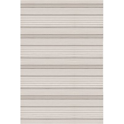 Dash and Albert Rugs Indoor/Outdoor Rugby Platinum Striped Rug