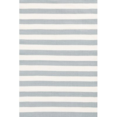 Dash and Albert Rugs Trimaran Light Blue/Ivory Striped Rug