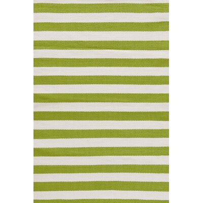 Dash and albert rugs indoor outdoor trimaran green white for Dash and albert indoor outdoor rugs