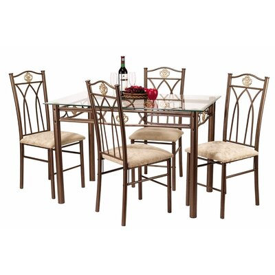 Hazelwood Home 5 Piece Dinette Set