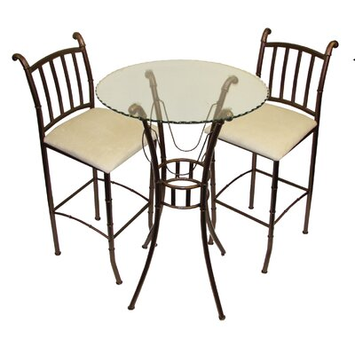Hazelwood Home Italian Three Piece Bistro Bar Set