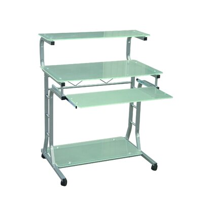 Hazelwood Home Hazelwood Home Modern Computer Cart in Silver