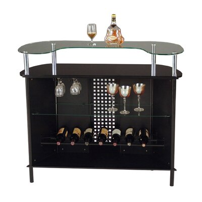 Hazelwood Home Glass Top Bar