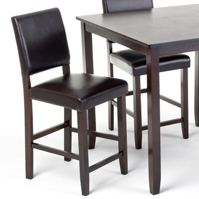 Imagio Home by Intercon Lofts Polyurethane Parsons Barstool in Dark Chocolate
