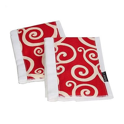 Reese Li Crimson Craze Burp Cloth Set