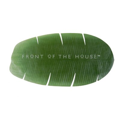 Front Of The House Banana Leaf Table Runner