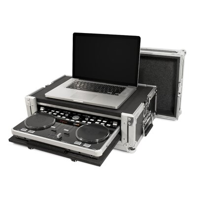 Road Ready Cases DJ Controller ATA Case for Vestax VCI300 with Laptop Storage and Pull Out VCI300 Compartment