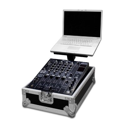 "Road Ready Cases Integrated Laptop Stand with 12"" DJ Mixer Case"