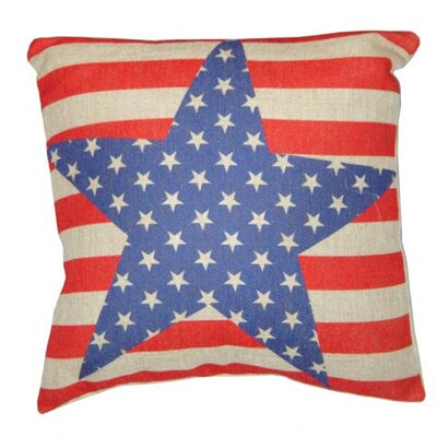 Cheungs Stars and Stripes Linen Pillow