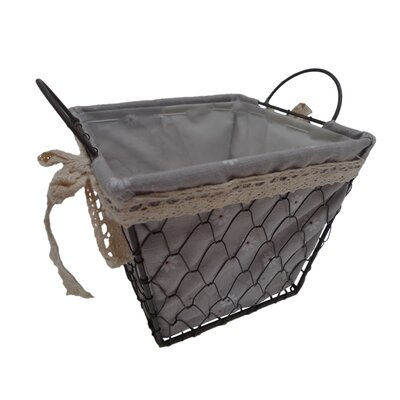 Square Lined Wire Basket