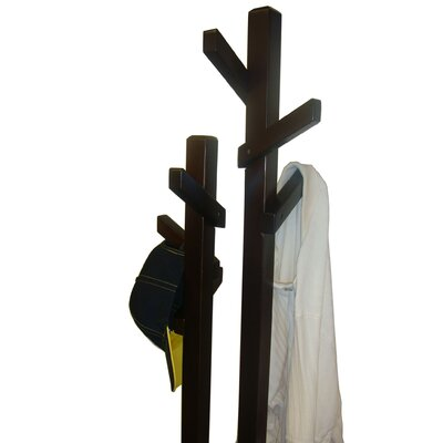 Proman Products Double Tree Coat Rack in Dark Walnut