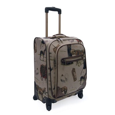Oleg Cassini Pony Up Expandable Spinner Suitcase
