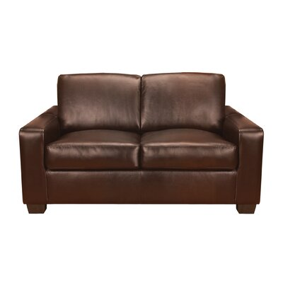 World Class Furniture Mabel Leather Loveseat