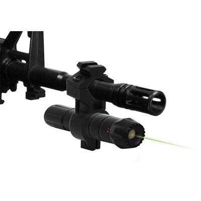 Red and Green Laser with Universal Rifle Barrel Mount and Pressure Switch