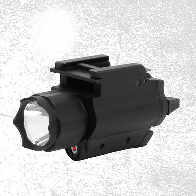Tactical Red Laser Sight and LED Flashlight with Weaver Quick Release