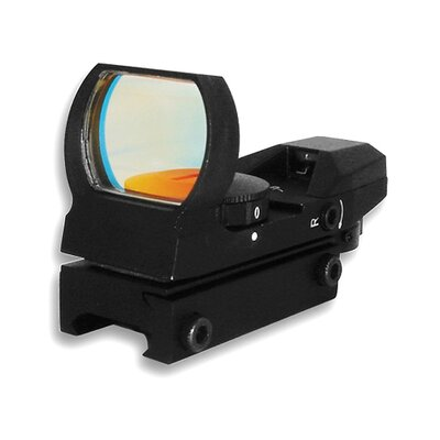 NcSTAR Red and Green Dot ReflexSight with 4 Different Reticles in Black