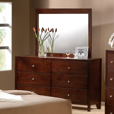 Greystone Dalton 6 Drawer Dresser and Mirror Set