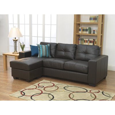 Furniture Link Gemona L Sofa in Brown