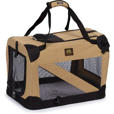 Pet Life Zippered 360° Vista View Pet Carrier in Khaki