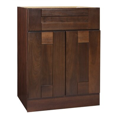 "Coastal Collection Georgetown Series 24"" Black Walnut Bathroom Vanity Base"