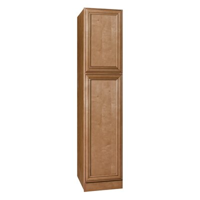 "Coastal Collection Heritage Series 84"" x 18"" x 21"" Maple Tall Linen Cabinet in Ginger Glaze Finish"