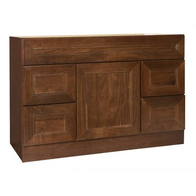 "Coastal Collection San Remo Series 48"" Black Walnut Bathroom Vanity Base"