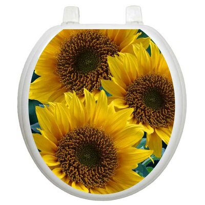Toilet Tattoos Themes Sun Kissed Sunflowers Toilet Seat Decal