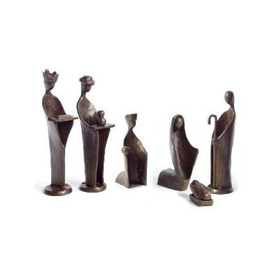 Danya B 6 Piece Mini Nativity Set in Bronze