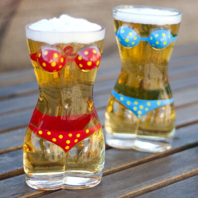 Danya B Lady Torso Bikini Beer Mug (Set of 2)