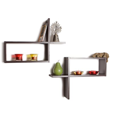 "Danya B Reversed ""d"" Shaped Shelves (Set of 2)"