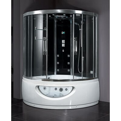 Ariel Bath Platinum Sliding Door Steam Shower with Tub