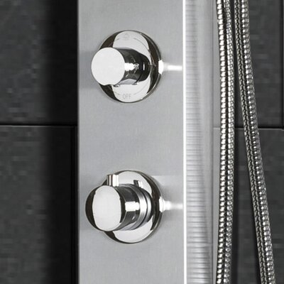"Ariel Bath Stainless Steel 70"" Thermostatic Shower Panel"