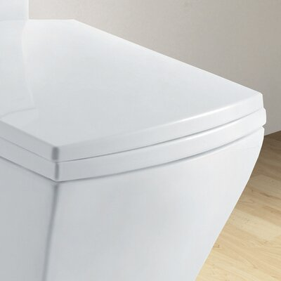 Ariel Bath Granada Contemporary Elongated 1 Piece Toilet with Dual Flush