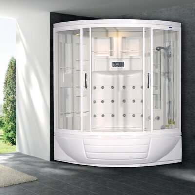 Ariel Bath Sliding Door Steam Sauna Shower with Bath Tub