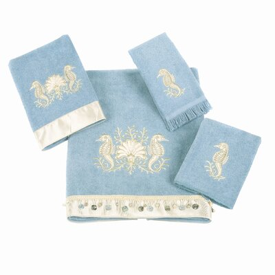 Seahorses 4 Piece Towel Set