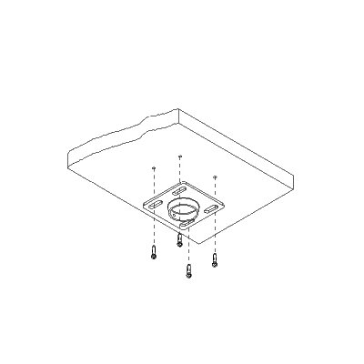 "Peerless 8"" x 8"" Unistruct and Structural Ceiling Plate"