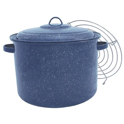 Granite Ware Quart Tamale Pot with Steamer Insert