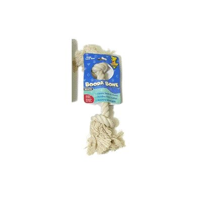BOODA Pet Products Two Knot Rope Bone Dog Toy in White