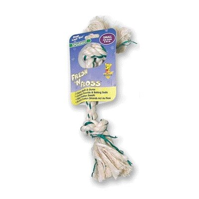 BOODA Pet Products Fresh-N-Floss Two Knot Bone Dog Toy with Spearmint Flavor